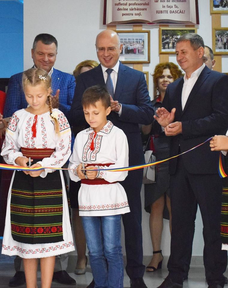 """(Română) Inaugurarea oficială a cantinei la Liceul """"Mihai Eminescu"""" din raionul Strășeni"""